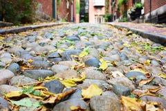 Historic Acorn Street at Boston Stock Photos