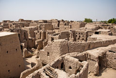 Free Historic Adobe Houses In Oman Stock Photography - 34410302