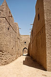 Historic Adobe Houses in Oman Royalty Free Stock Photos