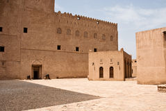 Historic Adobe Houses in Oman Royalty Free Stock Photo