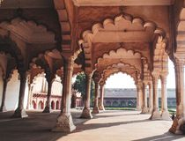 Historic Agra Fort in Agra, India royalty free stock images