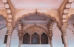 Historic Agra Fort in Agra, India stock images