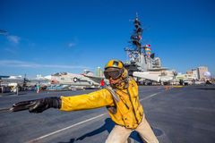 The historic aircraft carrier, USS Midway Stock Image