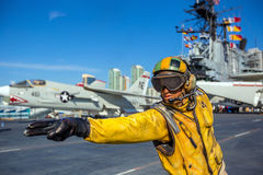 The historic aircraft carrier, USS Midway Royalty Free Stock Image