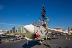 The historic aircraft carrier, USS Midway Stock Photos