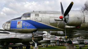 Historic aircraft. Historic plane in the private aviation museum near Pilsen. Februar 2014 Royalty Free Stock Image