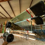 Historic Aircraft Waits In It`s Hangar For The Next Air Show stock photo
