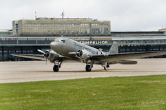 Historic airplane. Airfield Berlin-Tempelhof with historic airplane Stock Images