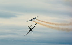 Historic Airplanes In Mid-Air Royalty Free Stock Photography