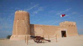 Historic Al Zubarah fort, Qatar stock footage