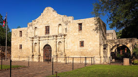 Historic Alamo in San Antonio, Texas. Exterior view of the historic Alamo in San Antonio, Texas royalty free stock photo