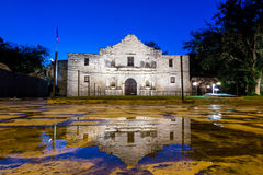 The Historic Alamo, San Antonio, Texas. The Historic Alamo at twilight, San Antonio, Texas stock images