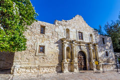 The Historic ALAMO, in Texas. The Historic Spanish Mission and Most Famous Texas Fort, The ALAMO, in San Antonio, Texas royalty free stock images