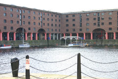 Historic Albert Dock Buildings in Liverpool Royalty Free Stock Image