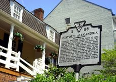 Historic Alexandria, Virginia - step back in time Stock Photography