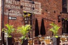 Historic Alexandria, Virginia waterfront dining Stock Image