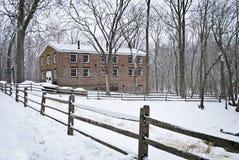 Historic Allaire Winter Stock Photo