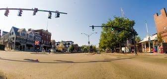 Historic America's Cup Avenue in Newport, RI. Stock Images