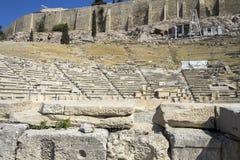 Historic amphitheatre around the Acropolis, Athens Stock Photos