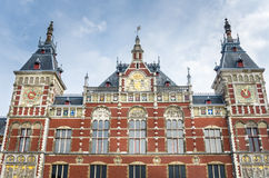 Historic Amsterdam Central Station Building Stock Photos