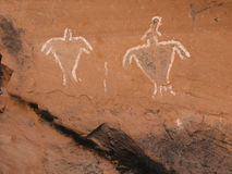 Historic Anasazi Figure Pictograms Stock Image