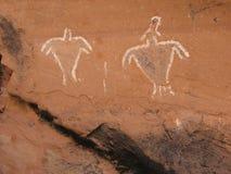 Historic Anasazi Figure Pictograms stock image