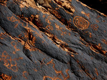 Historic Anasazi Petroglyphs Royalty Free Stock Photography