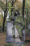 Historic Angel from the mystery old Prague Cemetery, Czech Republic Royalty Free Stock Photos