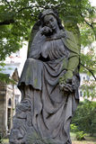 Historic Angel from the mystery old Prague Cemetery, Czech Republic Royalty Free Stock Image