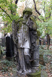 Historic Angel from the mystery old Prague Cemetery, Czech Republic Stock Image