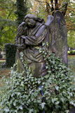 Historic Angel from the mystery old Prague Cemetery, Czech Republic Stock Photo