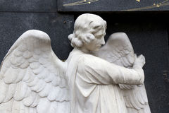 Historic Angel from the mystery old Prague Cemetery, Czech Republic Stock Photography