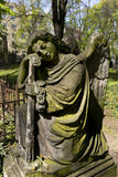 Historic Angel from the old mystery Prague Cemetery, Czech Republic Royalty Free Stock Photos