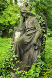 Historic Angel from the old Prague Cemetery, Czech Republic Royalty Free Stock Photography