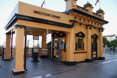 Historic Angels Flight Railway in Los Angeles Royalty Free Stock Photography