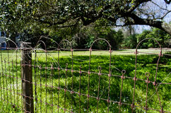 Historic, antigue fencing in Nacogdaches, Texas. Royalty Free Stock Images