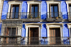 Historic Apartment Building Blue Facade Royalty Free Stock Photo