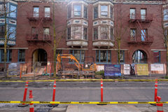 Historic Apartment Building Renovation PDX Stock Photos