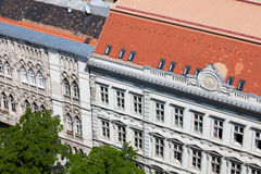 Historic Apartment Buildings in Budapest Stock Photography