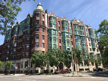 Historic Apartment Complex on Commonwealth Ave. Beautiful luxury apartments and condos at 464 Commonwealth Avenue in Boston, MA Stock Images