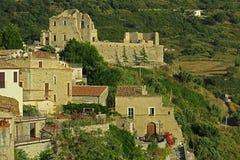 Fiumefreddo aragonese castle. The historic aragonese castle of fiumefreddo del bruzio in italy stock image