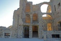Fiumefreddo facade castle. The historic aragonese castle at fiumefreddo del bruzio in south italy royalty free stock photos