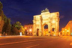 Historic arc de triomphe. The historic arc de triomphe Siegestor of Munich in Bavaria Stock Photography