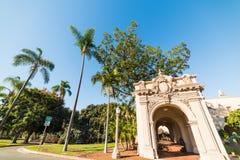Historic arcade in Balboa park. California Stock Images