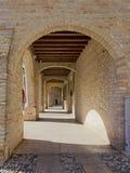 Historic Arcade in Portogruaro. Elegant historic arcade in Portogruaro, Italy Stock Photo