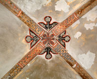 Historic Arched Dome Painted Ceiling. Royalty Free Stock Image