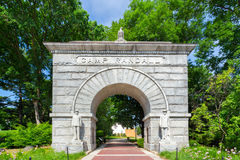 Historic Arched Entry to Camp Randall Stadium Royalty Free Stock Photos