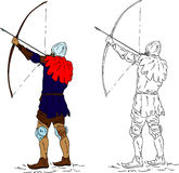 Historic archer. Vector - Historic archer, isolated on background Royalty Free Stock Photography