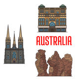 Historic architecture and  Australia Stock Images