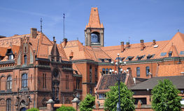 Historic architecture in Bydgoszcz. Poland. Royalty Free Stock Photos